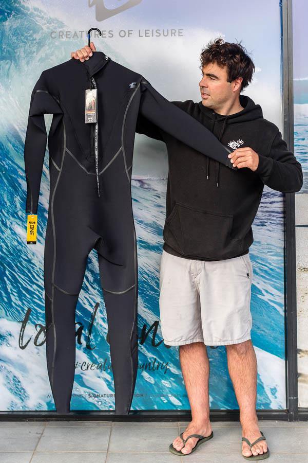 O'Neill Psychofreak Zen Zip 3_2mm Wetsuit Steamer Back